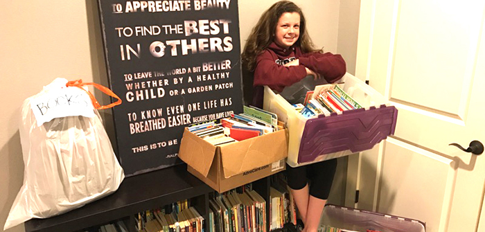 Local student turns the page on book drive