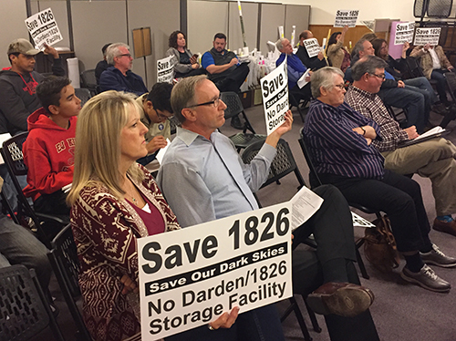Rim Rock Area Residents Protested The Storage Facility With Signs At Last  Weeku0027s Dripping Springs City Council Meeting. (photo By Samantha Smith)