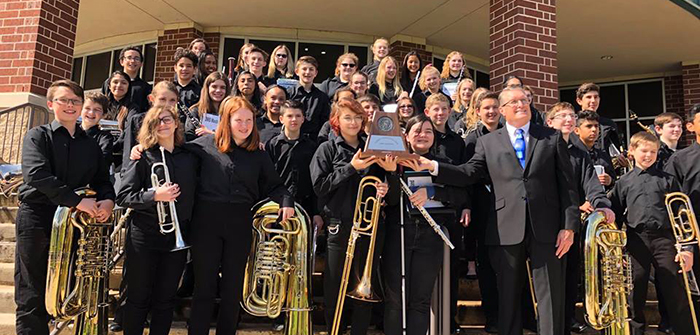 Three HCISD middle school bands earn sweepstakes