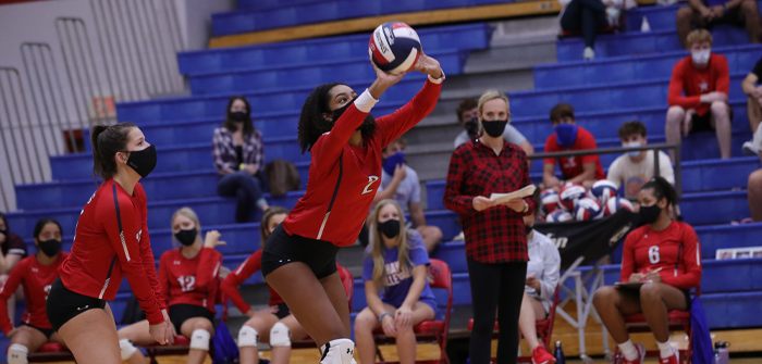 Hays volleyball sweeps Cards