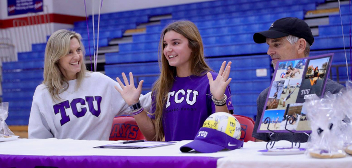 Hays volleyballer signs to play with TCU